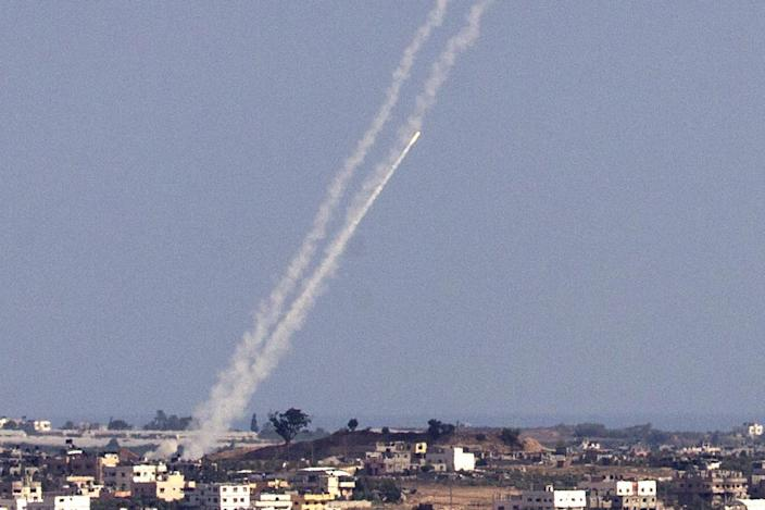 Hamas fired thousands of rockets at Israel during a 50-day war in July 2014 (AFP Photo/Jack Guez)