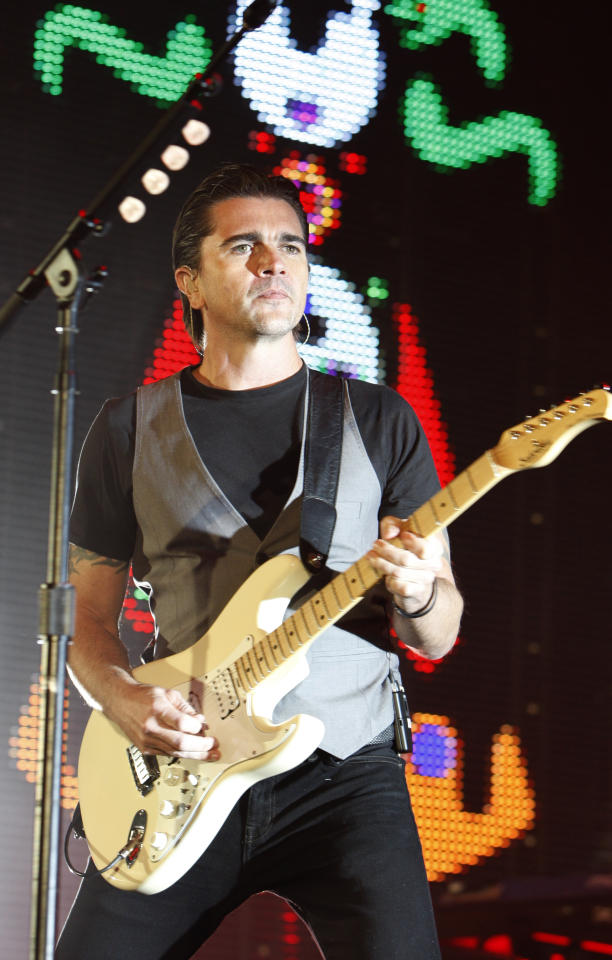 Colombian singer-guitarist, Juanes, performs in Seattle, on Thursday, March 10, 2011, in Seattle, Wash. It was the start of his world tour.