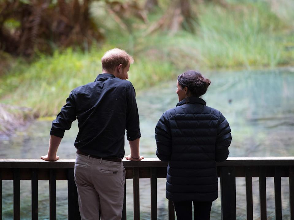 Prince Harry and Meghan Markle in Rotorua, New Zealand, in October 2018.