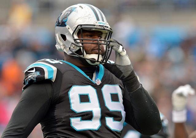 Carolina Panthers defensive tackle Kawann Short was rewarded with a contract extension. (Getty Images)