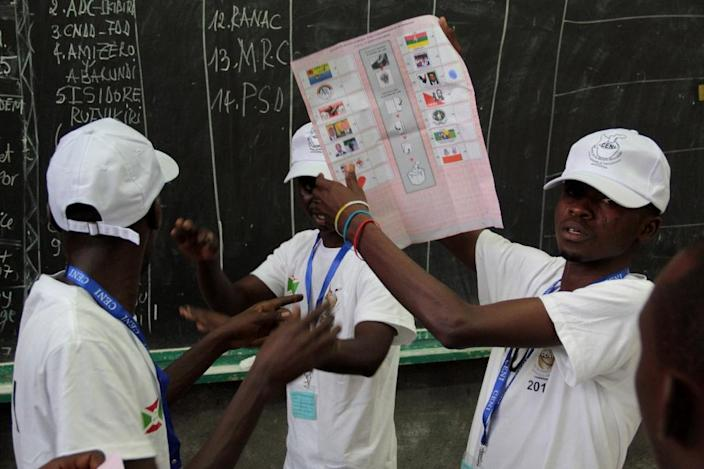 Parliamentary polls, in which Nkurunziza's ruling CNDD-FDD scored a widely-expected landslide win, were held on May 29 but boycotted by the opposition and internationally condemned (AFP Photo/Landry Nshimye)