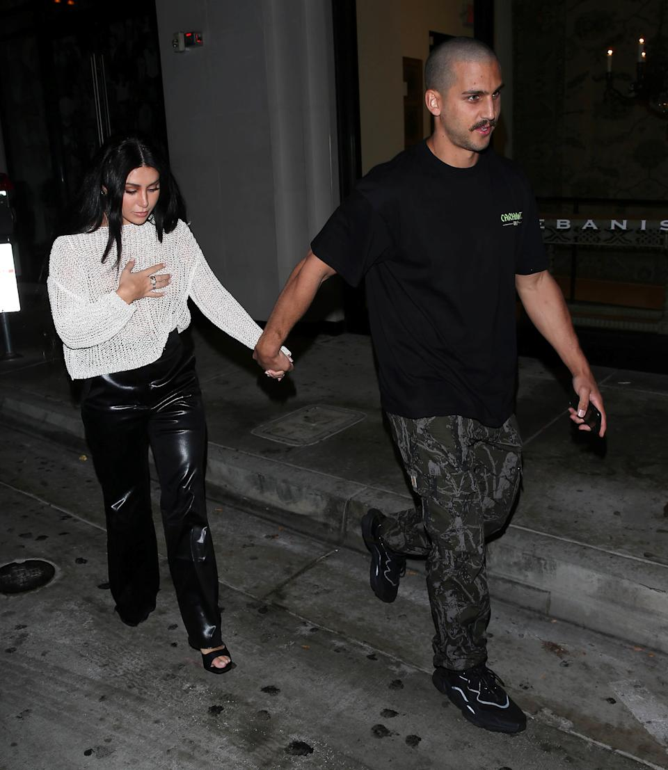 MAFS star Martha Kalifatidis goes braless in mesh top to dinner in LA. Photo: therealspw/Diimex.