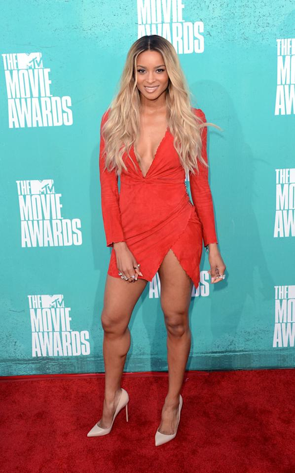 Ciara arrives at the MTV Movie Awards.