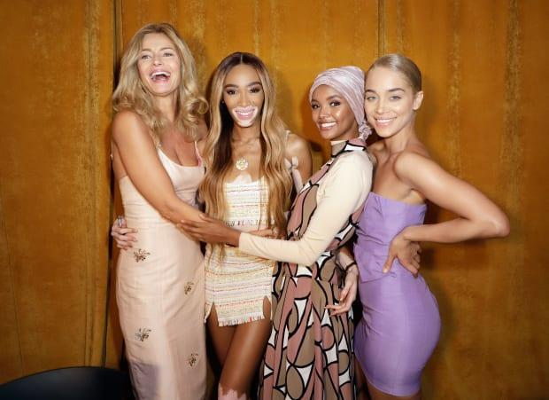 Paulina Porizkova, Winnie Harlow, Halima Aden and Jasmine Sanders. Photo: John Parra/Getty Images for Sports Illustrated