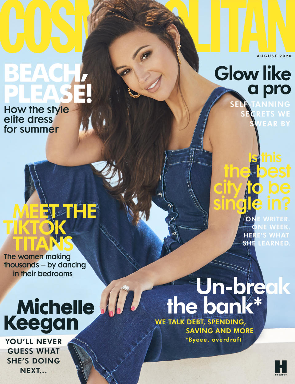 Michelle Keegan is Cosmo's cover girl for August 2020. (Cosmopolitan)
