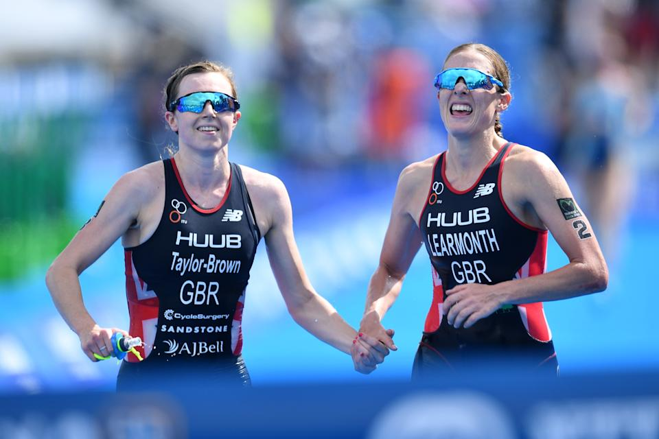 Taylor-Brown (left), Jessica Learmonth (right) and Vicky Holland will all go for gold in Tokyo (Picture: Reuters)