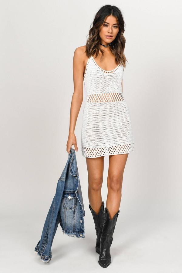 "<p><strong>tobi</strong></p><p>tobi.com</p><p><strong>$43.00</strong></p><p><a href=""https://www.tobi.com/product/73507-tobi-sierra-crochet-bodycon-dress?color_id=105146"" target=""_blank"">Shop Now</a></p><p>Crochet isn't just for the <a href=""https://www.seventeen.com/life/tech-social-media/a25426887/beach-captions/"" target=""_blank"">beach</a>. Try draping a leather jacket over your shoulders and slip on a cool pair of distressed combat boots to take this dress from sweet to grungy chic. </p>"