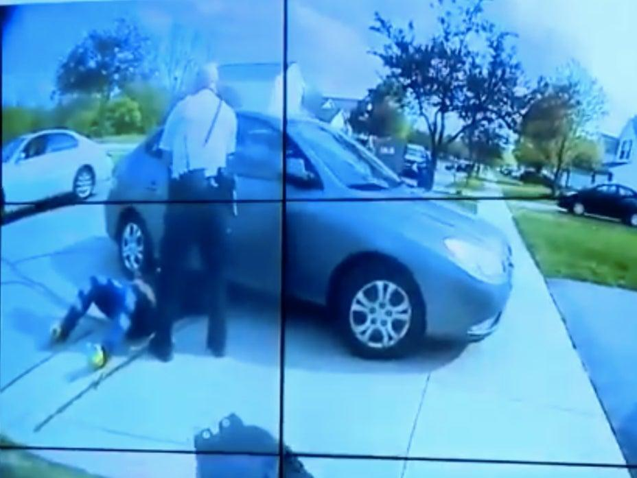 <p>Screengrab from the body camera footage released by Columbus police of killing 16-year-old Makiyah Bryant </p> (Screengrab/Video )
