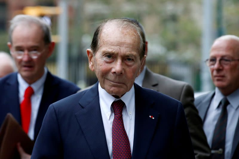 """FILE PHOTO: Maurice """"Hank"""" Greenberg, former chairman of AIG, arrives at the New York State Supreme Courthouse in 2016"""