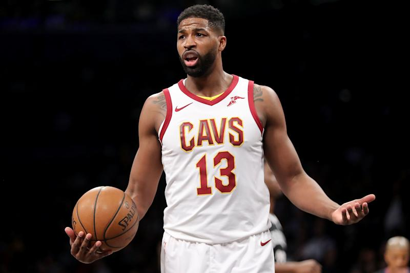 Tristan Thompson during a game in March 2018.