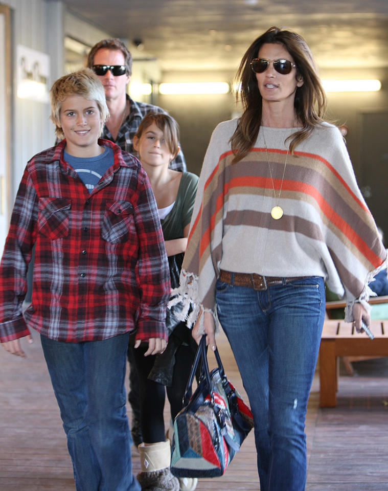 "<p class=""MsoNoSpacing"">The apple didn't fall very far from the tree for Cindy Crawford when it comes to her two beautiful children, son Presley, 12, and daughter Kaia, 10. Although Kaia followed in her mother's footsteps when she posed for Versace's kids line, Crawford decided to pulled the plug on her daughter's career until she's 17 – but then let her star in a<a target=""_blank"" href=""http://omg.yahoo.com/blogs/goddess/cindy-crawford-stars-jcpenney-ad-daughter-10-mother-175808867.html""> JCPenney Mother's Day ad campaign</a> with her.</p>"