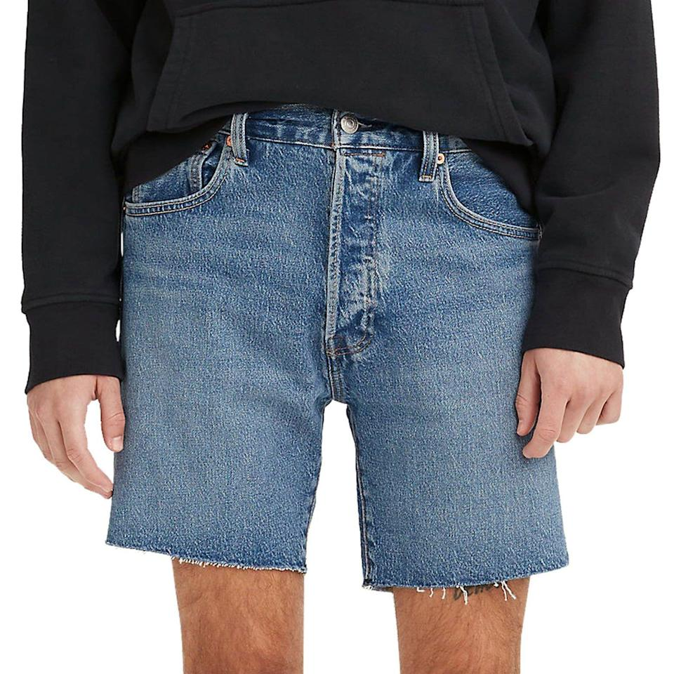 """<p><strong>Levi's</strong></p><p>nordstrom.com</p><p><strong>$69.50</strong></p><p><a href=""""https://go.redirectingat.com?id=74968X1596630&url=https%3A%2F%2Fwww.nordstrom.com%2Fs%2Flevis-501-93-straight-leg-denim-shorts-good-liar%2F5870244&sref=https%3A%2F%2Fwww.esquire.com%2Fstyle%2Fmens-fashion%2Fg36755392%2Fdad-style-dadcore-shopping-guide%2F"""" rel=""""nofollow noopener"""" target=""""_blank"""" data-ylk=""""slk:Shop Now"""" class=""""link rapid-noclick-resp"""">Shop Now</a></p><p>Like the ones he wears to mow the lawn, but pre-chopped for your convenience.</p>"""