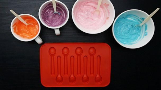 PHOTO: Supplies to make colorful candy spoons. (ABC News)