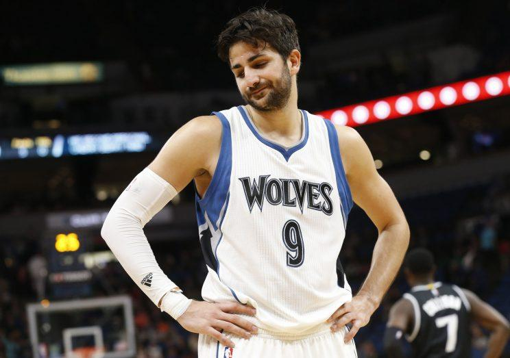 Ricky Rubio has played six seasons with Minnesota. (AP)