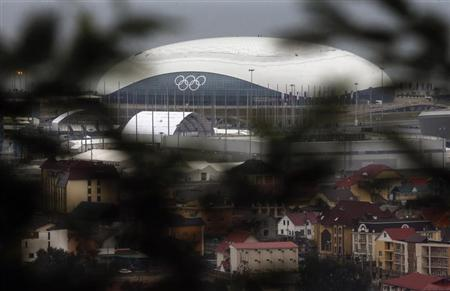 A view of the Bolshoy Ice Dome in the Olympic Park is seen at the Adler district of Sochi