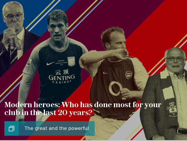 Modern heroes: Who has done most for your club in the last 20 years?