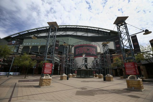 Chase Field, home of the Arizona Diamondbacks, could soon become the center of the baseball universe. (AP Photo/Ross D. Franklin)