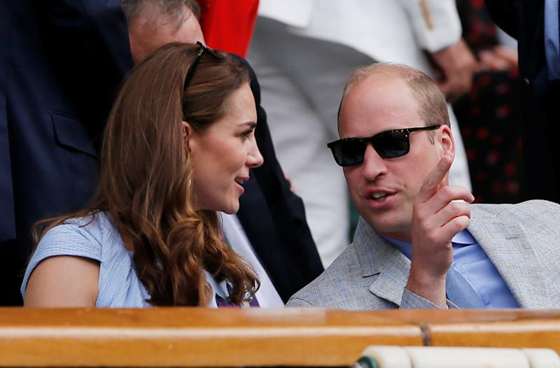 Tennis - Wimbledon - All England Lawn Tennis and Croquet Club, London, Britain - July 14, 2019 Britain's Catherine, Duchess of Cambridge, and Britain's Prince William, the Duke of Cambridge, in the Royal Box during the final between Switzerland's Roger Federer and Serbia's Novak Djokovic REUTERS/Andrew Couldridge