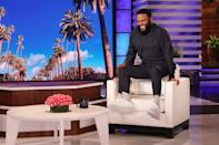 <p>Anthony Anderson is all smiles while guest hosting Friday's episode of <i>The Ellen DeGeneres Show</i> in Burbank, California. </p>