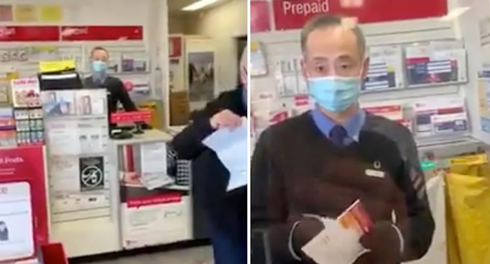 The woman is believed to be the same person who argued with Bunnings staff in a similar video. Source: Twitter/ Cam Smith
