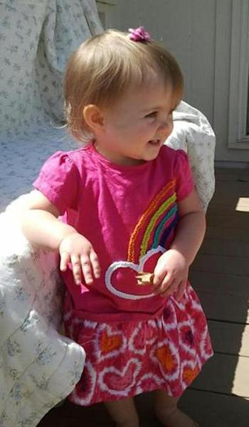 This undated photo provided by the Kansas Bureau of Investigation shows 18-month-old Lana Bailey. The bodies of a woman and two men who were found slain on an eastern Kansas farm were those of a young mother who went missing last week with her daughter, Lana, and two men who lived there, authorities said Wednesday, May 8, 2013. (AP Photo/Kansas Bureau of Investigation)