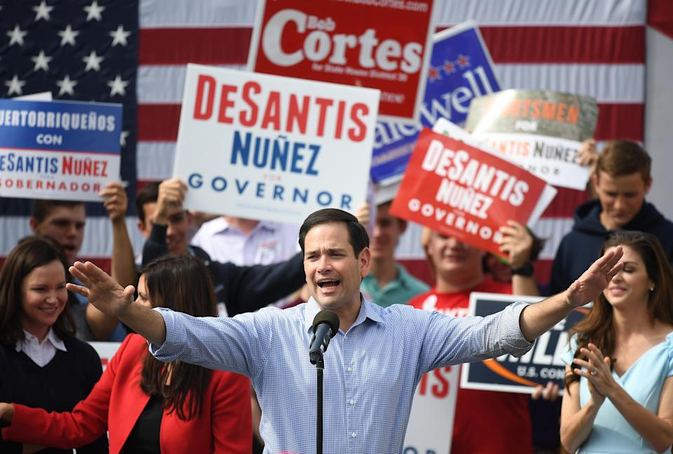 United States Senator Marco Rubio attempted to use a football analogy in a tweet about the election recounts taking place in Florida on Tuesday. It didn't go well. (Getty Images)