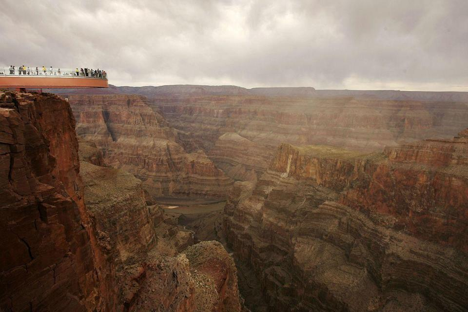 <p>The skywalk that hangs over the edge of the Grand Canyon, Arizona // March 20, 2007</p>