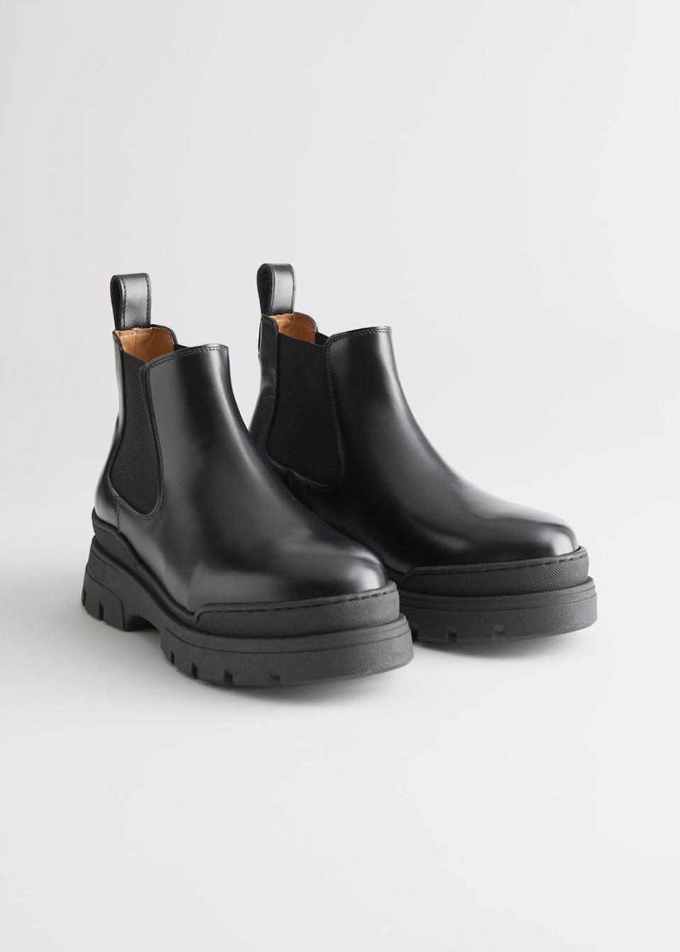 <p>These <span>Chelsea Boots</span> ($179) will go with everything, from cropped jeans to flowy dresses.</p>