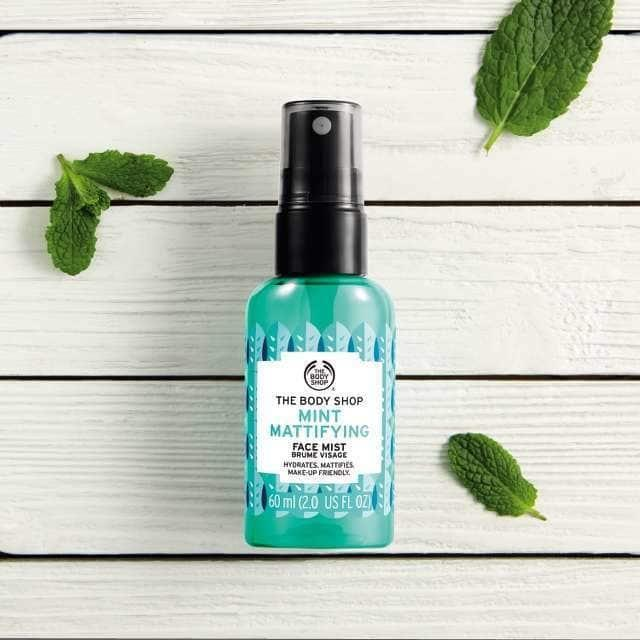Mint Mattifying Face Mist, 60ml, $12 from The Body Shop.
