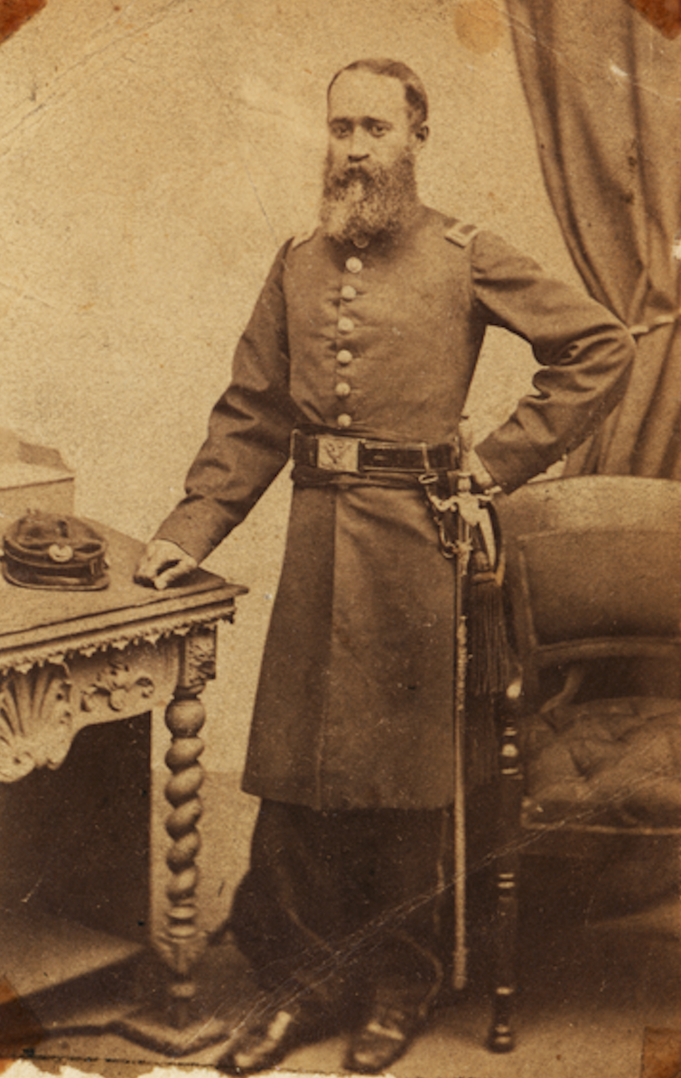 """<span class=""""caption"""">John Van Surly DeGrasse was one of only two African American physicians who received a commission in the army.</span> <span class=""""attribution""""><a class=""""link rapid-noclick-resp"""" href=""""https://www.nlm.nih.gov/exhibition/bindingwounds/exhibition.html"""" rel=""""nofollow noopener"""" target=""""_blank"""" data-ylk=""""slk:Massachusetts African American Museum and the Massachusetts Historical Society"""">Massachusetts African American Museum and the Massachusetts Historical Society</a></span>"""