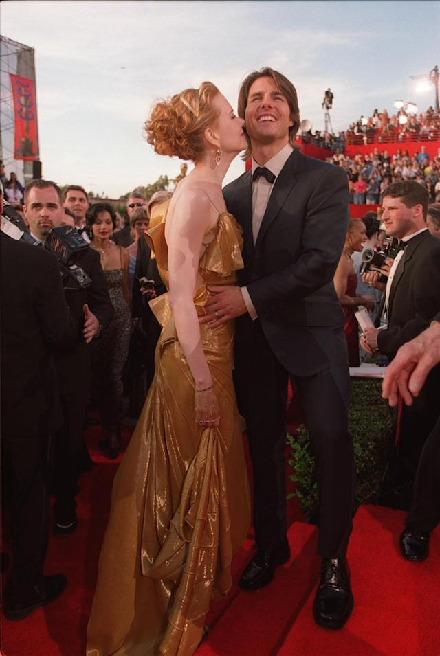 Nicole Kidman and Tom Cruise at the 2000 Oscars. (Photo: Wally Skalij/Los Angeles Times via Getty Images)