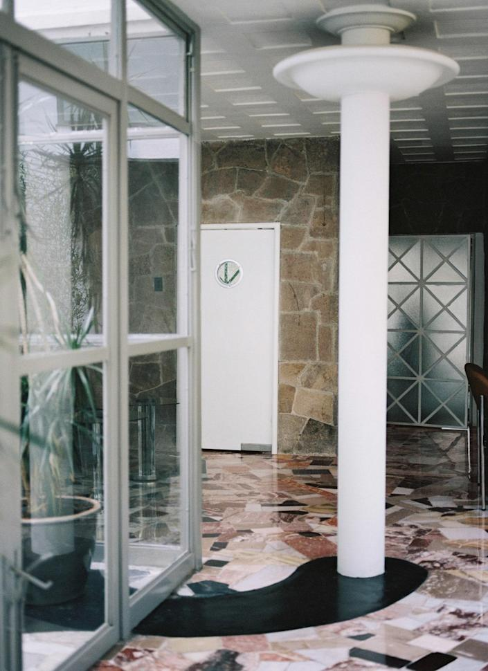 The house's original stone floors were preserved.