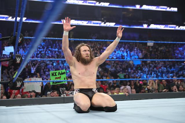 """Daniel Bryan will defend the WWE championship against A.J. Styles at the """"Royal Rumble"""" on Sunday. (Photo courtesy of WWE)"""