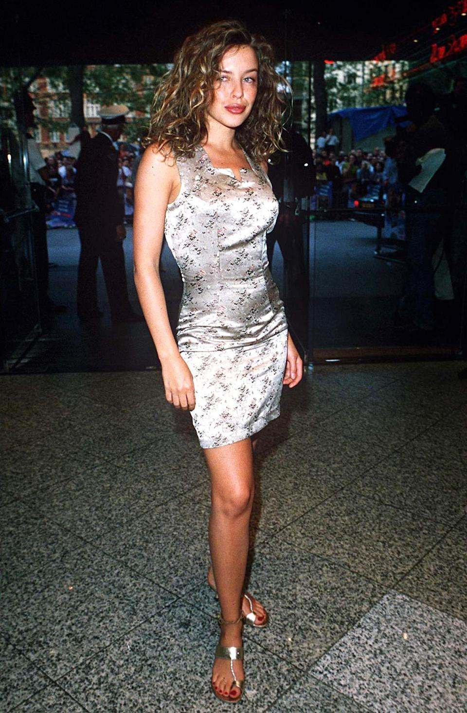 <p>The British pop singer was on hand for the 'Wayne's World' London premiere. (Photo: Richard Young/REX/Shutterstock) </p>