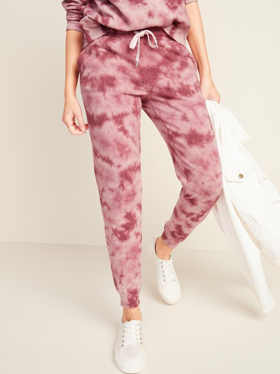 <p>If you love tie-dye then these <span> Old Navy Mid-Rise Tapered-Leg Jogger Pants</span> ($32, originally $45) are so your match.</p>