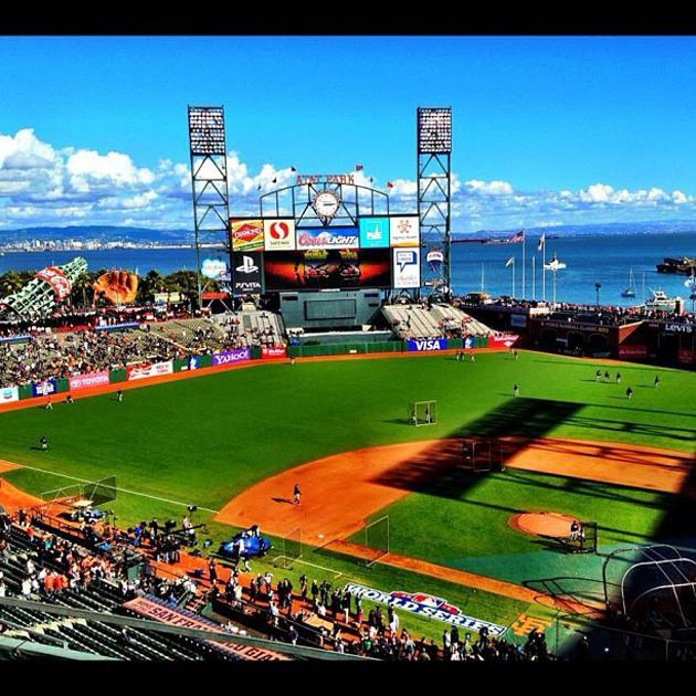 Is this the best view in baseball? #worldseries #giants #tigers (via @kevinkaduk)