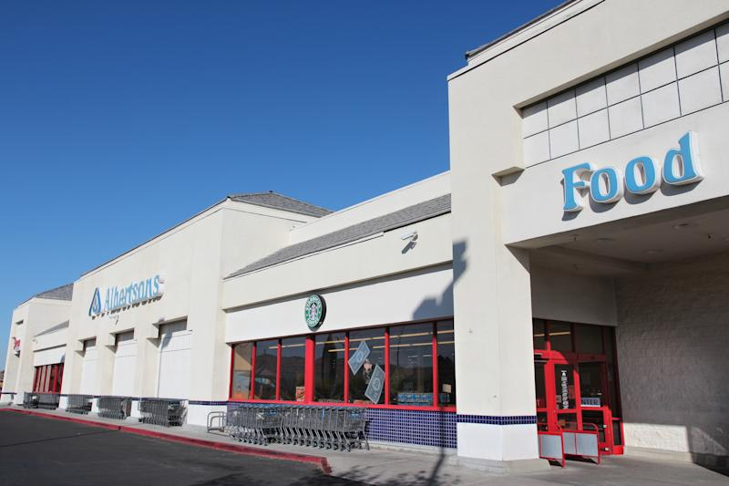 Albertsons store in Ridgecrest, California. It is a US grocery store company with 2,205 locations, owned by Cerberus Capital Management.