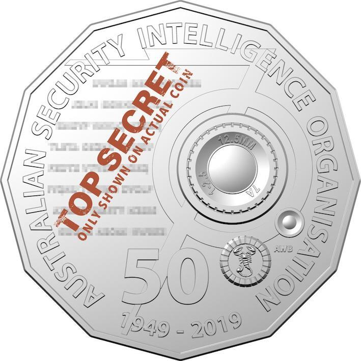 ASIO's code-loaded 50 cent coin