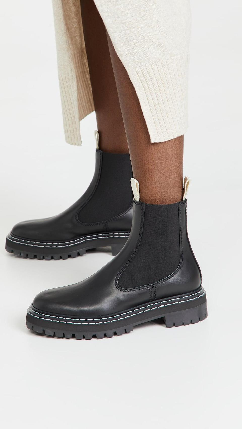 <p>The <span>Proenza Schouler Lug Sole Chelsea Boots</span> ($825) is at the top of our wish list. The splurge-worthy pair is easy to mix and match with just about anything.</p>