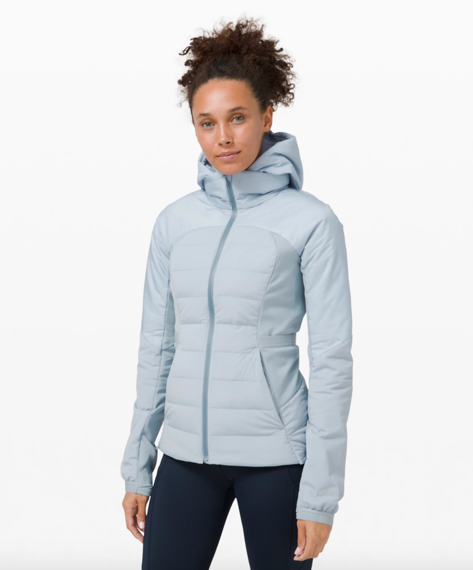Lululemon Down For It All Jacket in Chambray (Photo via Lululemon)