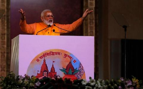 Narendra Modi heads the BJP Hindu nationalist party - Credit: AP Photo/ Rajesh Kumar Singh