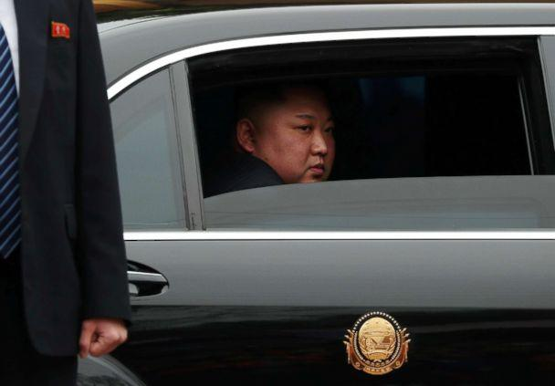 PHOTO: North Korea's leader Kim Jong Un sits in his vehicle after arriving at the Dong Dang railway station, in Vietnam, at the border with China, Feb. 26, 2019.  (Athit Perawongmetha/Reuters)