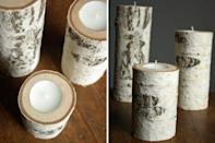 """<p>Even dads like candles, especially when they're made by his son or daughter. </p><p><a href=""""http://oleanderandpalm.com/2012/11/birch-wood-candle-holders.html"""" rel=""""nofollow noopener"""" target=""""_blank"""" data-ylk=""""slk:Get the tutorial."""" class=""""link rapid-noclick-resp"""">Get the tutorial.</a></p><p><a class=""""link rapid-noclick-resp"""" href=""""https://go.redirectingat.com?id=74968X1596630&url=https%3A%2F%2Fwww.walmart.com%2Fip%2FWhite-Birch-Log-Bundle%2F191729556&sref=https%3A%2F%2Fwww.oprahdaily.com%2Flife%2Fg27603456%2Fdiy-homemade-fathers-day-gifts%2F"""" rel=""""nofollow noopener"""" target=""""_blank"""" data-ylk=""""slk:SHOP LOGS"""">SHOP LOGS</a></p>"""