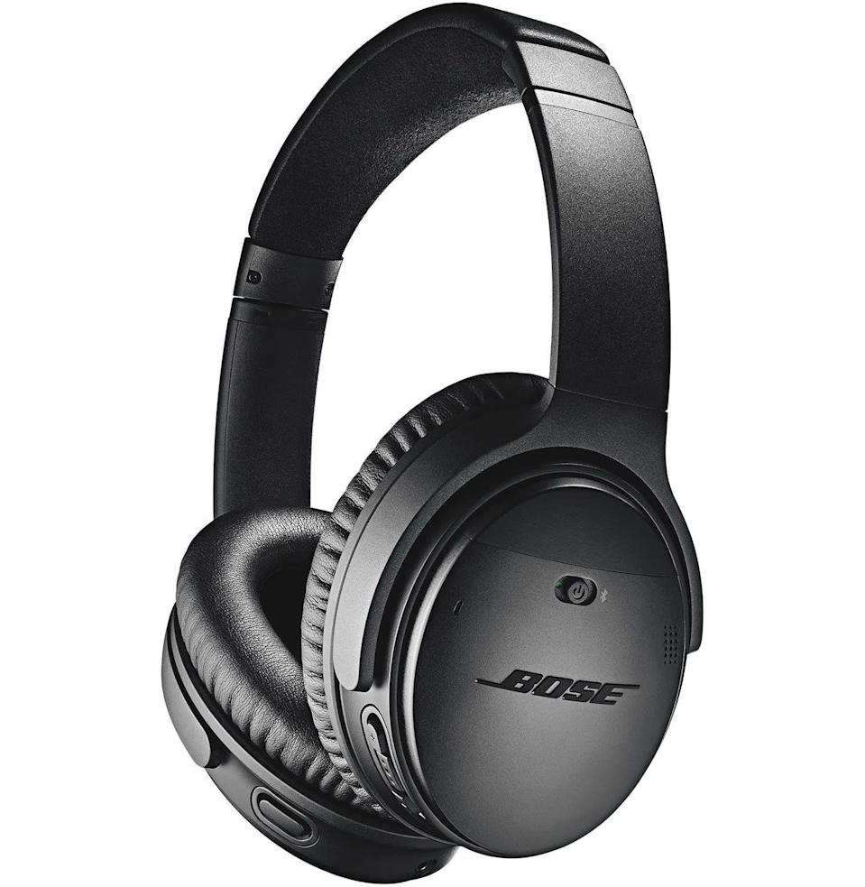 """<p><strong>Bose</strong></p><p>amazon.com</p><p><strong>$199.00</strong></p><p><a href=""""https://www.amazon.com/dp/B0756CYWWD?tag=syn-yahoo-20&ascsubtag=%5Bartid%7C10054.g.34313481%5Bsrc%7Cyahoo-us"""" rel=""""nofollow noopener"""" target=""""_blank"""" data-ylk=""""slk:Buy"""" class=""""link rapid-noclick-resp"""">Buy</a></p><p>Pure, sweet silence. Priceless.</p>"""
