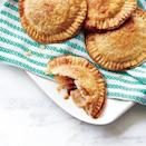 """<p>Look for toffee chips near the chocolate chips on the baking aisle. Be sure to chill the butter well beforehand to make it easier to cut into small cubes. </p><p><a href=""""https://www.myrecipes.com/recipe/apple-toffee-hand-pies"""" rel=""""nofollow noopener"""" target=""""_blank"""" data-ylk=""""slk:Apple-Toffee Hand Pies Recipe"""" class=""""link rapid-noclick-resp"""">Apple-Toffee Hand Pies Recipe</a></p>"""