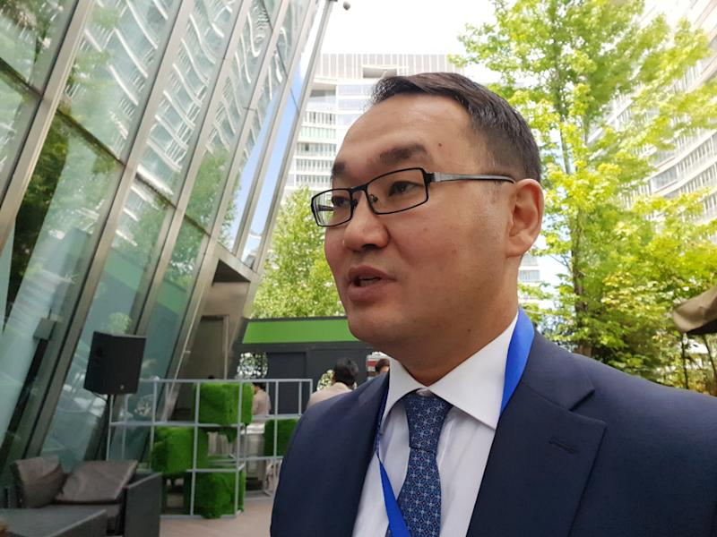 Kazakhstan Deputy Foreign Affairs Minister Yerzhan Ashikbayev says China's One Belt One Road Initiative untaps huge potential in strengthening the bilateral relationship between Malaysia and Kazakhstan. — Picture by Ida Nadirah Ibrahim