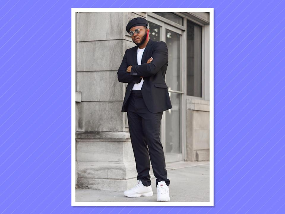 """<p><a href=""""https://www.instagram.com/francisleebaker4/?hl=en"""" rel=""""nofollow noopener"""" target=""""_blank"""" data-ylk=""""slk:Baker"""" class=""""link rapid-noclick-resp"""">Baker</a> has a refined sense of style and overall swag that makes you feel as though you are scrolling through a superchic <em>GQ</em>-curated big-and-tall feed. (Photo: Courtesy of Francis Baker) </p>"""