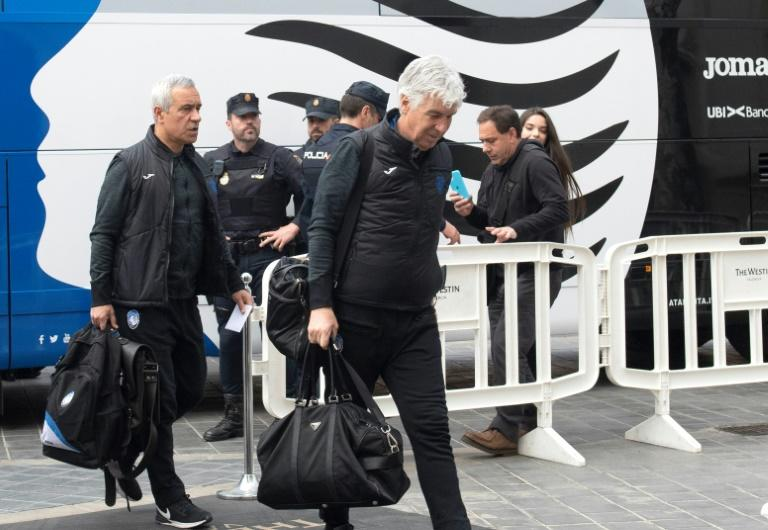 Atalanta coach Gian Piero Gasperini arrives in Valencia on March 09, 2020