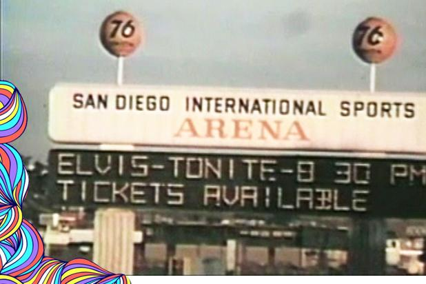 San Diego Sports Arena Elvis marquee