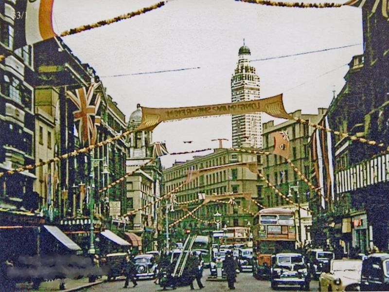 London Victoria Street_just_before_the 1953 Coronation_geograph 3190170 by Ben Brooksbank